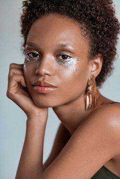 Afrodita Dorado photographed by Tom Newton for Into The Gloss. Makeup by Emi Kaneko.