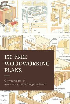 Get 150 Woodworking plans & more for FREE!