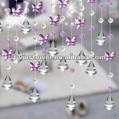 Elegant Crystal Beaded Door Curtain Butterfly   Buy Crystal Curtain,Bead  Curtain,Crystal Beaded