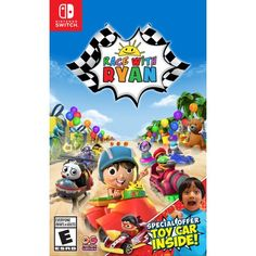 Walmart Exclusive: Race With Ryan, Outright Games, Nintendo Switch Toy Car Racing, Kart Racing, First Video Game, Video Games, New Super Mario Bros, Youtube Sensation, Nintendo Switch Games, Treasure Island, Family Kids