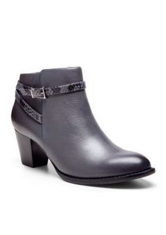 Vionic with Orthaheel Technology Dark Grey Upright Upton Bootie
