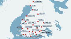 Suomen suurimpiin kaupunkeihin yhteinen matkakortti * Uudella matkakortilla voi pääkaupunkiseudun lisäksi matkustaa 22 kaupungissa. Yhtenäinen lippu- ja maksujärjestelmä otetaan käyttöön vuonna 2015. * Mukana 22 kaupunkia: Hämeenlinna, Imatra, Joensuu, Jyväskylä, Kajaani, Kemi, Kokkola, Kotka, Kouvola, Kuopio, Lahti, Lappeenranta, Mikkeli, Oulu, Pori, Rovaniemi, Savonlinna, Seinäjoki, Tampere, Turku, Vaasa, Salo