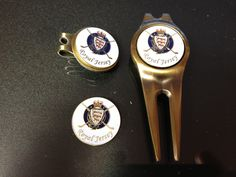 Royal Jersey golf ball marker £3, hat clip £6 and pitch fork £8. Visit www.rjproshop.com for other news and products available.