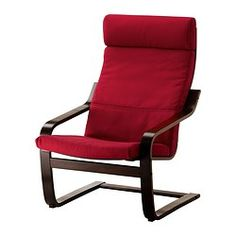 POÄNG Armchair - Dansbo medium red, black-brown - IKEA  thank you Kijiji!! only $40.00 w/ stool