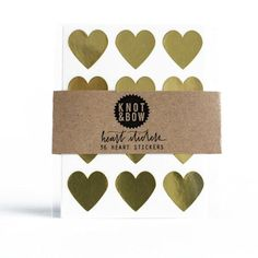 HEART STICKER - GOLD - Simply Sweet Soirees