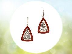 #jadered #triangledropearrings #fashionaccessories