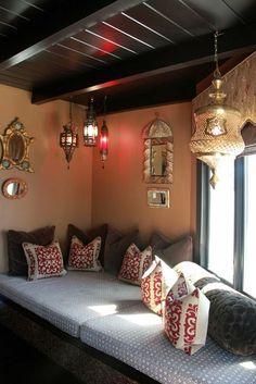 cozy corner with exotic lanterns.