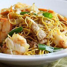 Nouilles chinoises aux crevettes et au porc