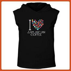 Idakoos - I love Jamaican Coffee colorful hearts - Drinks - Hooded Sleeveless T-Shirt - Food and drink shirts (*Partner-Link)