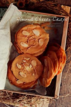 Almond Cheese Crisps   Interesting yet easy to make :9