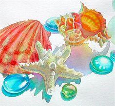 Sea Shells & Sea Glass ~ by Reiko Hervin