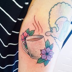 I sincerely am into the pigments, lines, and fine detail. This is certainly a brilliant choice if you really want a Piercing Tattoo, Piercings, Tea Tattoo, Coffee Tattoos, Body Mods, Tattoo Designs, Tattoo Ideas, Watercolor Tattoo, Tatting