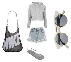 Без названия #8 by gigalova on Polyvore featuring polyvore, fashion, style, Topshop, River Island, Havaianas and NIKE