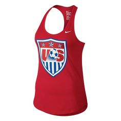 Women can stay comfortable in the Nike USA Core Plus Women s Tank Top while  the cheer 924c776a3