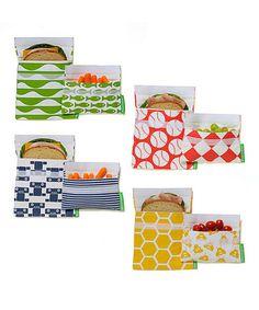 Eight-Piece Reusable Sandwich & Snack Bag Set #zulily #zulilyfinds