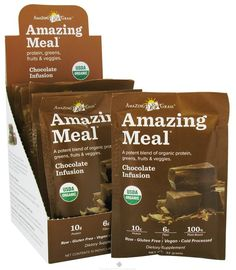 I'm learning all about Amazing Grass Meal Organic Chocolate Infusion Powder Gluten Free Box at @Influenster!