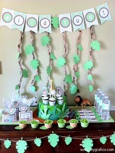 ideas for lion king/jungle baby shower