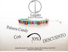 Pulsera Candy con el 30% de descuento!!!#Pulsera #Candy #Artesania #DiseñoColombiano Info:3123721833 .