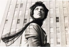 """In her """"Untitled Film Stills"""" series, Cindy Sherman used herself as a model to create stereotypical roles of women found in cinematic depictions."""