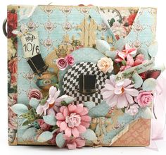 Flying Unicorn: Its Mad Tea Party Mini - love the papers and the lovely paper frames used in this mini.