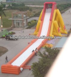 inflatable slide n slip used swimming pool slide 0.9mm+0.55mm 1000D PVC slide with pool