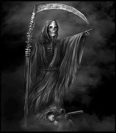 Sniper, Hope Brackin on ArtStation at… Death Reaper, Grim Reaper Art, Grim Reaper Tattoo, Dark Artwork, Skull Artwork, Sci Fi Horror, Arte Horror, Grim Reaper Pictures, Skull Pictures