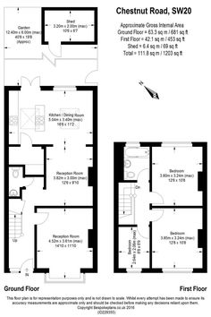 3 bed property for sale in Chestnut Road London 775000 1930s House Extension, House Extension Plans, House Extension Design, Rear Extension, Extension Ideas, House Layout Plans, House Layouts, House Plans, End Terrace House