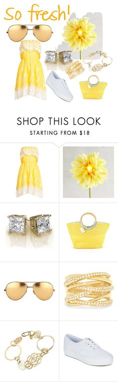"""""""So fresh!"""" by tracey22505 ❤ liked on Polyvore featuring Christophe Sauvat, Pier 1 Imports, Neiman Marcus, Linda Farrow, Effy Jewelry, Chanel and Keds"""