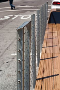 16062 Similar wire barrier used on edge of Tony's parklet by geekstinkbreath, via Flickr
