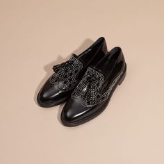 Studded Leather Tassel Loafers | Burberry