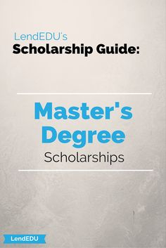 Locating funding for terminal Master's programs can sometimes be tricky. Students may run into the problem of locating scholarships that cater to only undergraduate students or that are only offered to students pursuing a doctoral degree. But fear not as there are actually many scholarships that were created with Master's students in mind!