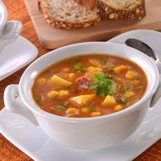 Libby's® Spicy Pumpkin Corn Chowder-skip bacon, use vegan broth, liquid smoke Libby's Pumpkin, Pumpkin Dessert, Pumpkin Puree, Pumpkin Sweet Potato Soup, Savory Pumpkin Recipes, Chowder Recipes, Soup Recipes, Cooking Recipes, Diet Recipes