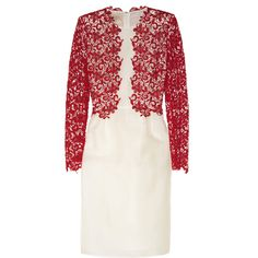 Giambattista Valli Floral-lace and silk-organza dress ($3,861) via Polyvore