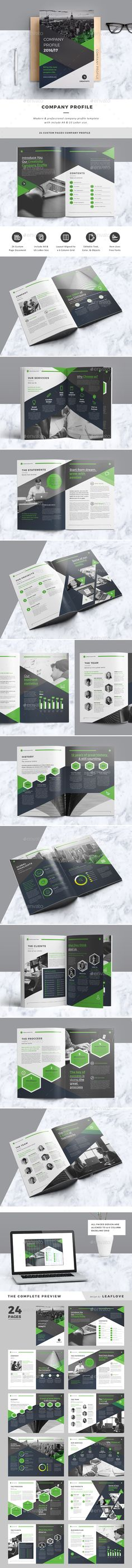 Annual Report 24 Pages Template, Brochures and Annual reports - company information template