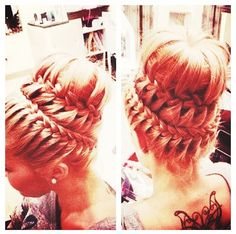 Cool hair style.