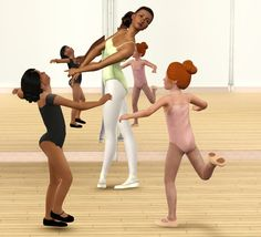 Mod The Sims - Let's Get Physical! ballet outfits