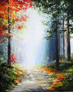 'Woodland Path' by Gleb Goloubetski Oil on Canvas 100cm x 80cm