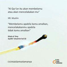 Bersama al qur'an kita damaikan dunia. :) Mau kan di bela al qur'an ketika di akhirat kelak?  Yuk. Pelajari qur'an. Baca juga amalkan dan dekatlah dengan ahlul qur'an yaitu orang orang yang hafidz qur'an. Karena banyak inspirasi darinya. :). . Adeeem hati ini dg qur'an. . Kamu iya kan??. . #cintaislam @cintaislamselamanya