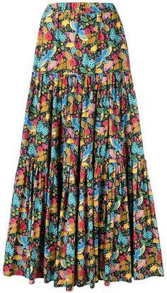 d4681e5155 Pink Printed Wavy Ribbon Hollow Big Skirt Holiday Dress in 2019 ...