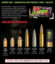 Kill the zombies. All of them!  This is real ammunition....this makes me go o.0