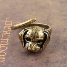 Puppy Dog Ringent Vintage Ring