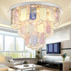 Creative Colorful Glass Crystal Living Room Ceiling Lamp Dining Room Ceiling Lamp Bedroom Ceiling Lamp