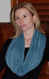 Ravelry: Aphelion Cowl pattern by Charlisa Anderson.  300 yards, DK weight.