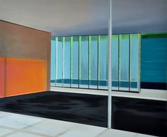 "Saatchi Art Artist Cécile van Hanja; Painting, ""Glass room"" #art"