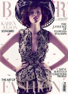 Stunning ...  #UK Harpers Bazaar May 2013 Karen Elson