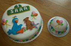 Sesamstraat taart en meptaart
