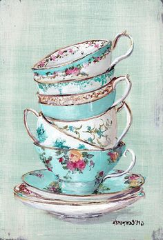 Google Image Result for http://images.fineartamerica.com/images-medium-large/stacked-aqua-themed-tea-cups-gail-mccormack.jpg
