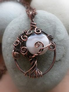 One of the coolest tree of life pendants I've seen.  That stone is perfect!