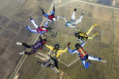 """These skydivers are in """"free fall."""" After jumping out of a plane from two-and-a-half miles up, they are being pulled back to Earth by the force of gravity. Before opening their parachutes, the only thing slowing their fall is """"air resistance."""" These sky divers will never fall faster than about 120 mph. But if one of them went into a """"diving"""" position and reduced air resistance, that skydiver could reach a top speed of about 200 mph. When you are in free fall, you feel weightless. ..."""
