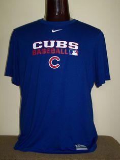 322ad6f1d43 Nike Dri-fit shirt royal blue size XL Chicago Cubs shirt